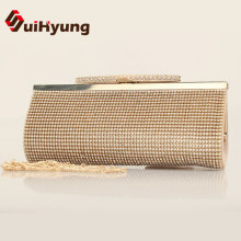 Hot Style 2016 New Women's Banquet Day Clutches Luxury Sided Full Diamond Evening Bag Wedding Party Handbag Purse Shoulder Bag