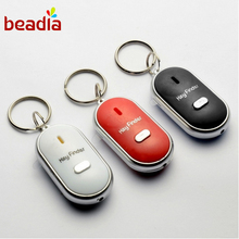 Fashion Anti Lost Keychain Sound Voice LED Locator Whistle Control Sound Key Finder Rings Kids Bag Car Key Wallet Phone