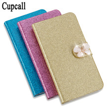 New Fashion Bling Diamond Glitter PU Flip Leather mobile phone Cover Case for Doogee X5 Max for Doogee X5 Max Pro(China)