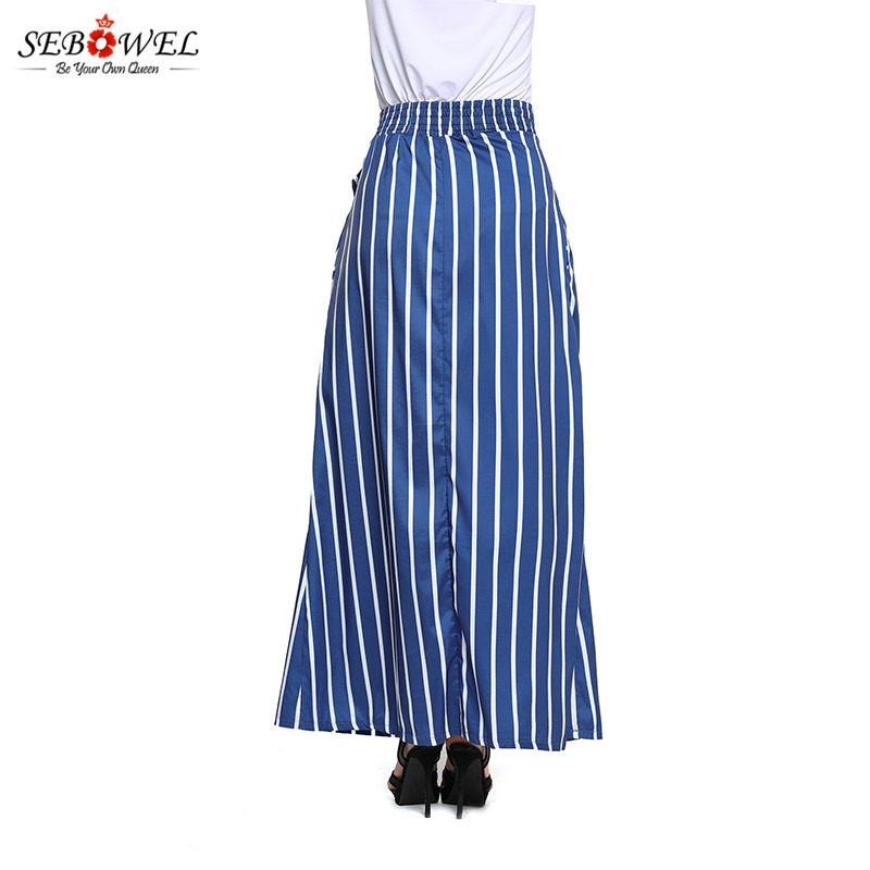 Dark-Blue-Striped-Maxi-Skirt-LC65037-5-6