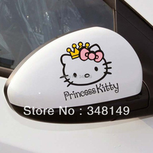 Car Accessories Princess Hello Kitty Car Stickers and Decal for Toyota Ford Chevrolet Volkswagen Tesla Honda Hyundai Kia Lada(China)