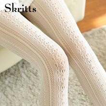 Buy Skritts Sexy Tights Female Stockings Pantyhose Women Lace Retro Hollow Female Spring Vertical Stripes Pantyhose Woman