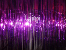 2M*1M One Purple Foil Tinsel Shimmer Curtains Party Pub House Door Curtain Stage Background Christmas Wedding Decoration