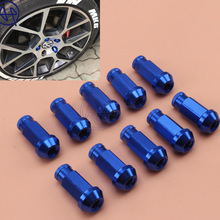 Car Styling Blue Billet Aluminum 20pcs D1 Spec JDM Racing Wheel Lug Nuts M12X1.5/1.25 Universal for Ford Toyota Free Shipping