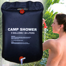 Outdoor Shower Water Bag Portable Shower Bag Camping Hiking Light Weight Solar Heated with On/ Off Nozzle(China)