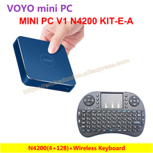 VOYO VMac Mini PC N4200(4+128) Intel Apollo Lake License Windows 10 Pocket PC+Wireless Keyboard=VOYO KIT-E-A