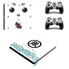 Gintama PS4 Slim Skin Stickers Wrap for Sony PlayStation 4 Slim Console and 2 Controllers Decorative Skins