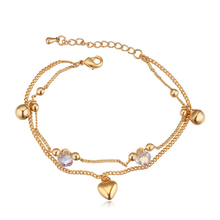2015 New Indian Jewelry  Gold Color Charm Bracelet Made With Swarovski Elements Crystals from Swarovski Pulseras for Women