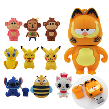Pendrive all kinds of cartoon garfield pikachu and bee usb flash drive 4GB 8GB 16GB 32GB 64GB usb 2.0 memory stick pen drive