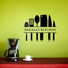 Kitchen Wall Decal Chef Vinyl Wall Decal Personalized Name Kitchen Home Art Custom Name Removable Interior Modern Sticker SYY779