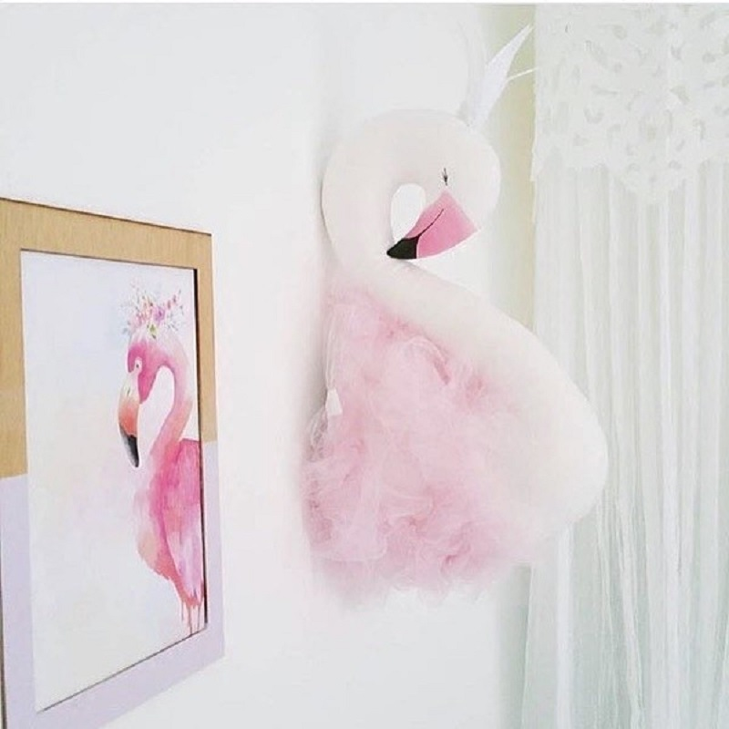 Swan Stuffed Plush Fashion Handmade Animals Dolls Room Decoration Wall Hanging Artwork Toys For Children Kids Gift<br><br>Aliexpress