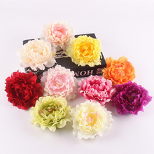 Artificial peony flower heads DIY Multicolor Road lead wedding flower Bouquet hotel background wall decor accessories flores(China)