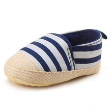 Delebao Spring/Autumn Baby Shoes Gingham Confortable Cotton Soft Sole First Walkers Newborn Fashion Canvas Slip-On Baby Shoes(China)