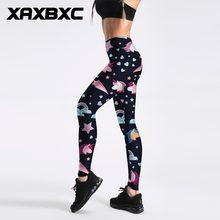 f662ba30831 XAXBXC 4034 Sexy Girl Pencil Pant Cute Heart Strar Unicorn Rainbow Prints  Elastic Slim Fitness Workout Women Leggings Plus Size