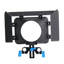 Lightweight 15 mmm Rail Rod Base Plate DSLR Rig Matte Box For Cameras and Camcoders(China)