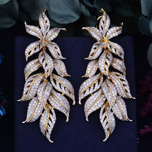 GODKI Dress Jewelry Earring Fashion Leaf-Leaves Exclusive African Wedding Women 80mm