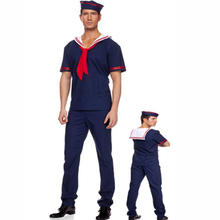 free shipping Men sailor suit navy suit male uniform fashion game service halloween cosplay(China)