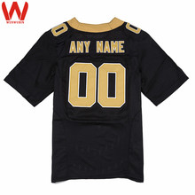Custom Made Men/Women/Youth High Quality Stitched Logos&Name&Number Football Jerseys Big&Tall Size Color Black White(China)