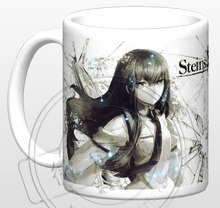 New Steins Gate Makise Kurisu Okabe Rintarou Ceramic Coffee Mug White Color Or Color Changed Cup