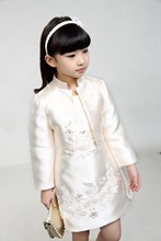100-150cm Tutu style Beading Dresses Performance Children Big Girls Lace Wedding Dressy Bowknot Dress mother Kids Princess Dress