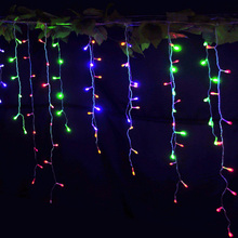 Decorative LED Curtain Icicle String Lights 5M droop 0.4m 0.5m 0.6m Fairy Garland Lamp For Outdoor Christmas New Year EU PLUG(China)