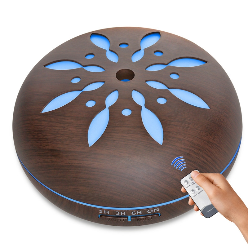 2018 New Design Remote Control Aroma Diffuser with 7 Color Changing LED Light Ultrasonic Cool Mist Essential Oil Humidifier<br>