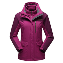 Contrasting Color Outdoor Women Coat Windproof Women 3 In 1 Hiking Jackets Mountain Outdoor Clothes Tactical Windbreaker