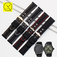 Canvas Nylon Band for Citizen BM8475 Watches Wrist Man Watchband Strap Belt Waterproof Bracelet Accessories Stainless Pin Clasp(China)