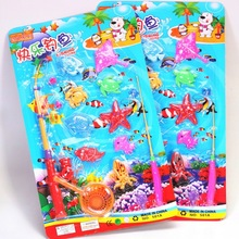 Sand pool beach fishing toy magnetic fishing toy puzzle beach fishing toy