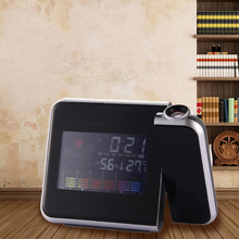 New Fashion Attention Projection Digital Weather LCD Snooze Alarm Clock Projector Color Display LED Backlight(China)