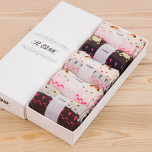 5 Pairs/Lot Socks Women Cute Bear Design Casual Knit Wool Socks Warm Winter Cashmere Breathable Socks Gift for Lover Wife Mother(China)