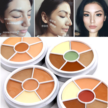 Free Shipping Dark Skin Contour Concealer Kit Makeup Face Color Corrector Make Up Profissional Concealer Contouring Palette(China)