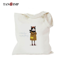 TANGIMP 2017 Canvas Handbags Thinking Cat Bags for Laptop Creative Fun Women Heavy Duty Eco Reusable Shopping Tote Beach Bags