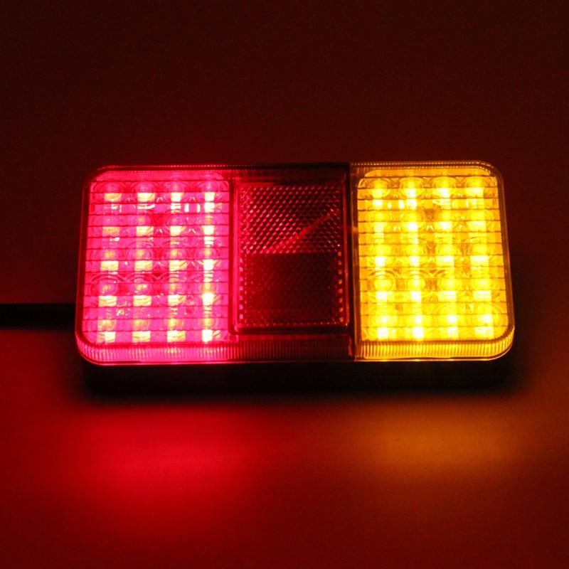 1 pair 12V 40 LED Rear Tail Lights Stop Indicator Lamp for Truck Trailer Van Bus<br>