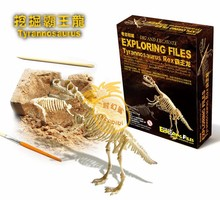 Candice guo plastic toy paly house funny gift educational birthday christmas Archaeological excavation game Dinosaur model 1pc(China)