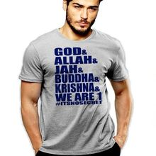 God and Jah and Allah and Buddha and Krishna We Are All One Not Secret T-Shirt Summer Tops Tees T Shirt Hot 2017 Fashion