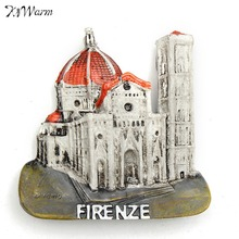 Brand New 3D Tourist Travel Souvenir Rerin Fridge Magnet -Firenze Florence Cathedral Decorative Figurines Cute Miniature Gift