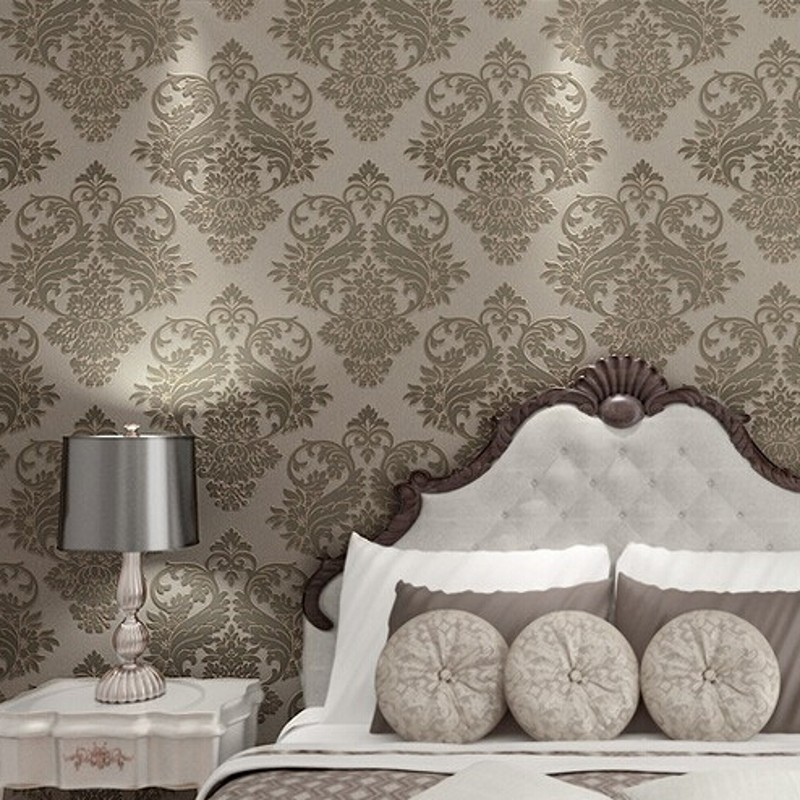 beibehang 4 Color Victorian Damask wallpaper scroll background wall wallpaper pvc roll wall papers home decor for living room<br>