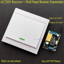Wireless Remote Control Switch AC 220V Receiver Wall Panel Remote Transmitter Hall Bedroom Ceiling Lights Wall Lamps Wireless TX(China)