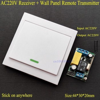 YurKuong Wireless Remote Control Switch AC 220V Receiver Panel Transmitter Hall