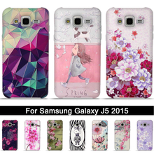 Case for Samsung J5 2015 Printing 3D Relief TPU Back Case Cover for Samsung Galaxy J 5 2015 Soft Silicone for J5 j500 Shell Bags(China)