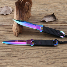 Titanium Pocket Knife Tactical Fixed Blade Knife Leggings Training Survival Outdoor Hunting Camping Diving Knives Knife Tools