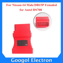Professional for Nissan-14 Male/DB15P Femaled for Autel DS708 Free Shipping