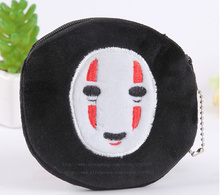 NEW ON Black Color Mask Coin BAG , 10CM Keychain Pendant Mini Hand Coin Bag Purse , Pocket Coin Purse Wallet Pouch Case BAG(China)