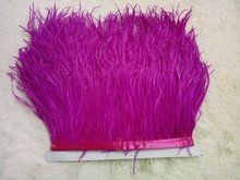 Wholesale 10Yards/lot from Factory Strip Cheap rose red Ostrich Feather Trim 10-15cm height Ostrich feather fringes 014008014