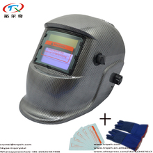 Full Protect Gray Black Carbon Welding Helmet Solar Lithium Battery Power Long Life Auto Darkening Best Quality TRQ-HD18-2233DE(China)
