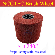 grit 240 NCCTEC Stainless steel wire drawing wheel brush FREE shipping | install in NCCTEC NSDM950 stainless steel grinder(China)