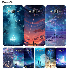 Desxz night landscape universe space cover phone case for Samsung Galaxy J1 J2 J3 J5 J7 MINI ACE 2016 2015(China)