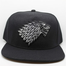 Wolf Hat Snapback Baseball Caps A Song Of Lce And Fire Winter Is Coming Hat Game Of Thrones House Stark Winterfell Embroid Hats(China)