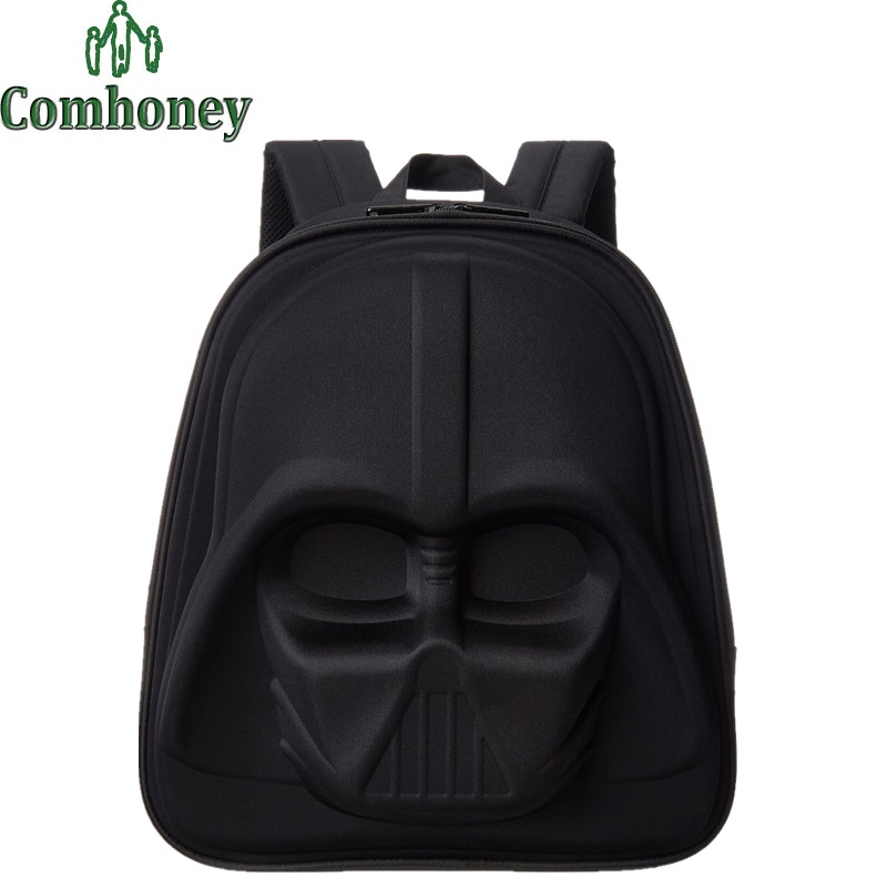 Children Backpacks Star Wars Backpack for Teenagers Boys Girls 3D Black Knight White Soldiers School Backpack Kids School Bags(China (Mainland))